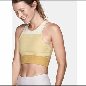 Outdoor Voices Yellow Sports Bra Size S